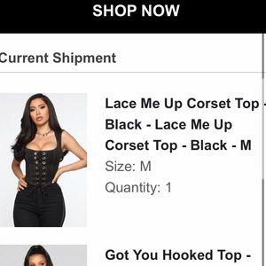 Fashion Nova, Lace Me Up Corset Top